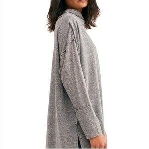 Free people NWT gray tunic top